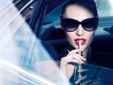 Mysterious Makeup Ads - The Max Factor X Lipfinity Campaign Stars Top Model Candice Swanepoel