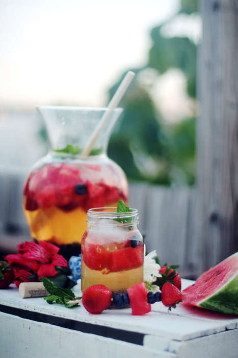 Patriotic Sangria Recipes - Celebrate This Weekend With This Red, White and Blue July 4th Sangria