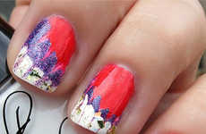 Explosive Firework Manicures - These Happy Fourth of July Firecracker Nail Decals are Super Glittery