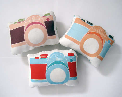 Photo Enthusiast Decor - Etsy's Yellow Heart Art Shop Creates Adorable Camera Pillows
