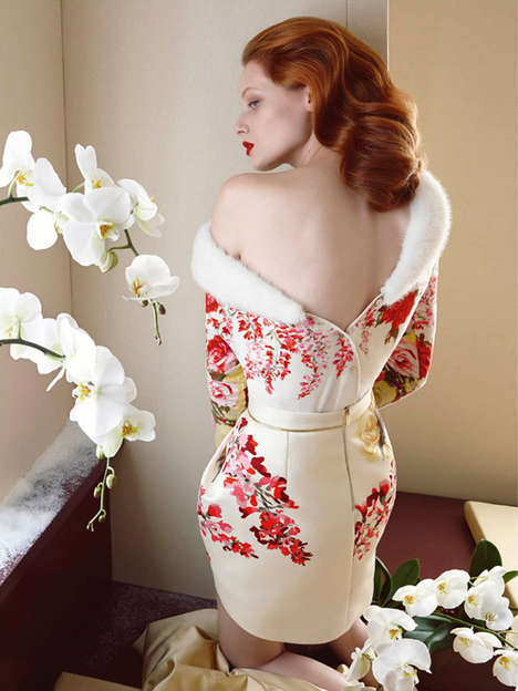 Red-Haired Siren Campaigns - The Blumarine Fall/Winter 2014/2015 Advertoral is Elegantly Ornate