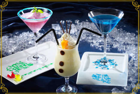 Cinematic Frozen Drinks - These Fun Beverages Take the Shape of Characters from Disney