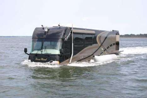 RV-Yacht Hybrid Vehicles - Terra Wind by CAMI Travels as Easily in Water as It Does on Land