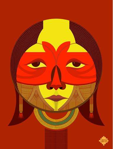 Expressive Tribal Illustrations - This Tribe Illustration Series is Authentically Accurate and Artsy
