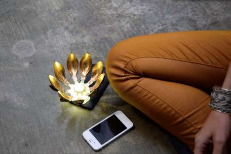 App-Connected Meditation Flowers - The Lotus Digital Flower Blossoms Only When Brainwaves Are Still