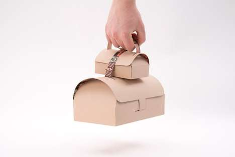Corrogated Handbag Containers - Designer Gustav Karlsson Redesigns Take-Out Boxes into Chic Purses