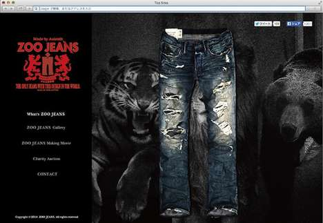 Wildly Torn Jeans - Zoo Jeans Are Torn by Real Lions and Tigers