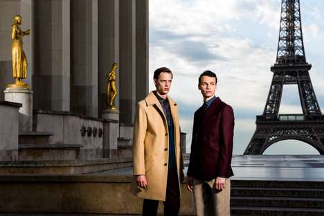 Luxe Parisian Advertorials - The Paul Davis Fall/Winter 2014 Campaign Embodies Classic Elegance