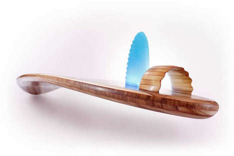 """wooden surfboard"""
