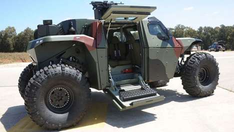 Zombie Apocalypse Survival Vehicle - The Combat Guard by Israeli Military is Fast and Defensive