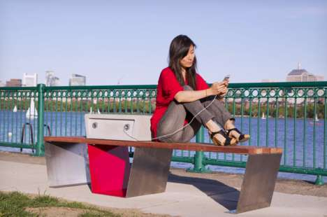 Solar-Powered Benches - The Soofas in Boston Provide Public Resting Spots and Charging Stations