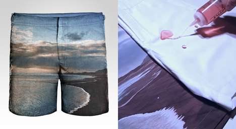 Water-Repelling Trunks - These Hydrophobic Frank Anthony Shorts Will Never Get Wet or Stained