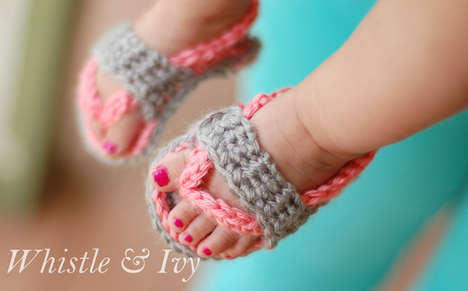 Crochet Baby Sandals - These Knitted Infant Flip-Flops are Incredibly Cute for Summer