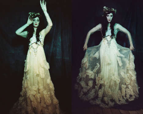 Witchy Opulence Editorials - The Sorceress Exclusive for The Glamourai Embraces Occult Themes