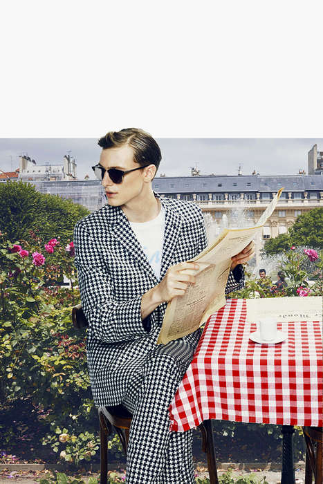 Dashingly Dapper Lookbooks - The Maison Kitsuné SS 2015 Lookbook was Inspired by French Style
