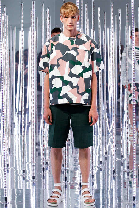 Contemporary Camouflage Attire - The Sacai Man Spring/Summer 2015 Collection Displays Urban Elegance