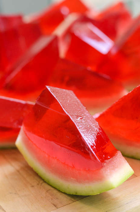 Alcoholic Watermelon Slices - These Watermelon Jello Shots Are Perfect for July 4th Celebrations