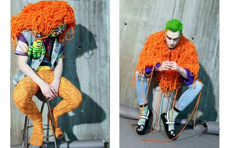 Conceptual Knitwear Editorials - Glassbook