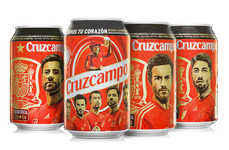 Sporty Soccer Beer Cans - Cruzcampo's World Cup Beer Cans Honor the Spanish National Football Team