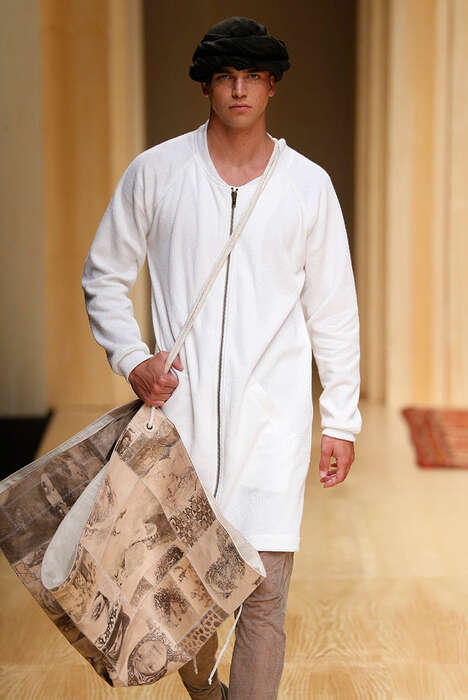 Moroccan Traveler Menswear - The Miriam Ponsa Spring/Summer 2015 Collection is Culturally-Themed