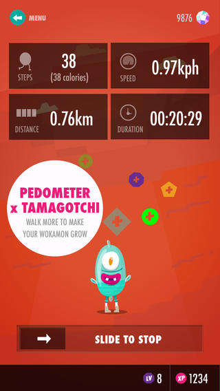 Virtual Pet Pedometers - The Wokamon App is Like a Tamagotchi That Grows the More You Walk
