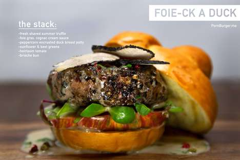 Decadent Duck Burgers - This Opulent Burger Comes with a Foie Gras and a Duck Breast Patty