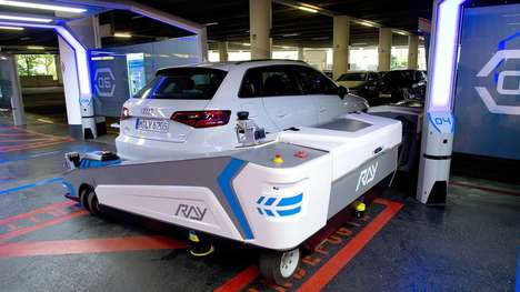 Robotic Vehicle Valets - The Ray Robot Will Park Your Car For You in Germany