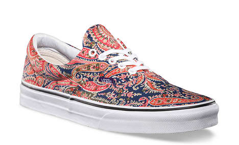 Patterned Paisley Sneakers - The VANS Liberty Art Fabrics Fall 2014 Collection is Brightly Colorful