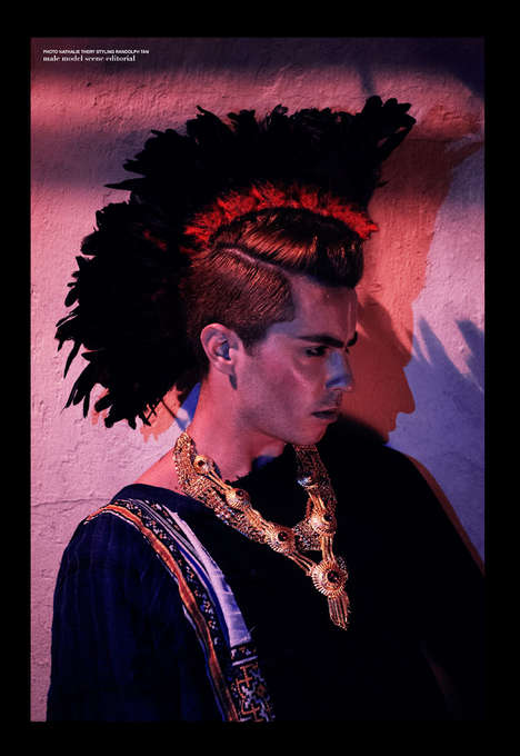 Ornate Tribalism Editorials - Male Model Scene