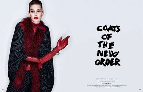 Lavishly Luxe Fall Editorials - Ophélie Guillermand Stuns in the Latest Vogue Japan August Issue