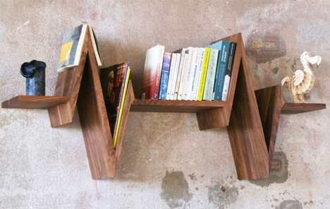 Life-Line Bookcases - The Beat-Shelf by Van Tjalle en Jasper Boasts a Dynamic Design