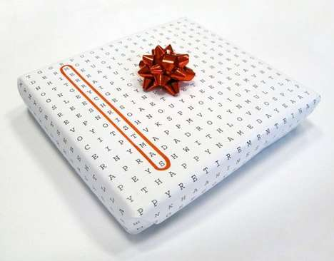 Word Search Wrapping Paper - Wordless Design