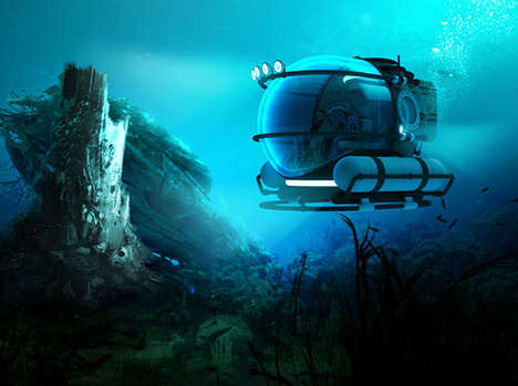 Submersible Vehicle Concept - Manatee by Eduardo Galvani is Made for Recreational Purposes