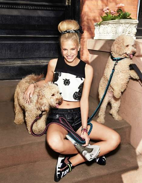 Quirky City-Girl Editorials - Nadine Leopold Stars in the Latest Cosmopolitan August 2014 Issue