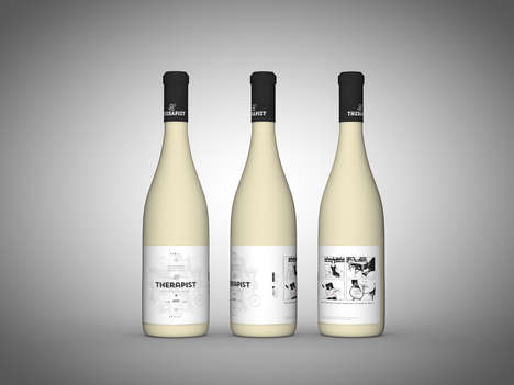 Therapeutic Wine Branding - The Therapist Bottles Humorously Suggests Wine Therapy
