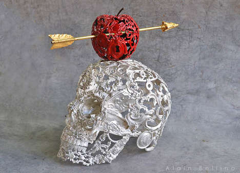 Skeletal Steampunk Sculptures - Artist Alain Bellino