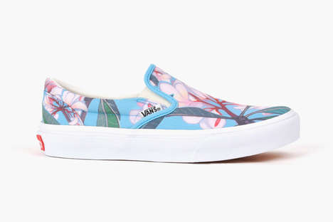 Blossoming Slip-On Sneakers - The Plumeria Slip-On is a Vans Collaboration with Christie Shinn