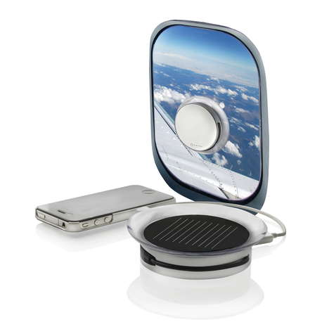 Sun-Fuelled Power Pods - The Port Solar Charger Works on Any Window Surface