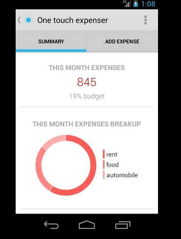 Expense Tracking Apps - The One Touch Expenser Helps You Manage Your Money Efficiently