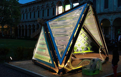 Bio-Digital City Structures - Urban Algae Canopy by ecoLogicStudio Cleans Air in Metropolises