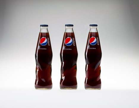 Twisted Soda Bottles - A New Pepsi Bottle Design Brings a New Look to the Classic Beverage