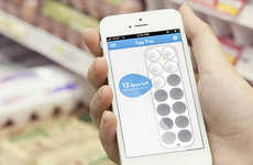 Egg Minding Trays - The Eggminder Tray and App Helps You Remember How Many Eggs You Have Left