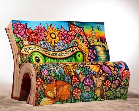 Literary Book Benches - Books About Town Asks Various Artists Turn Benches into Iconic Story Books