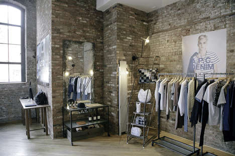 Grungy Pop-Up Shops - A.P.C. Opens a Temporary Retail Space in