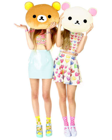 Anime Bear Cushions - Shop Jeen's Rilakkuma and Korilakkuma Pillows Celebrate the Cartoon Characters