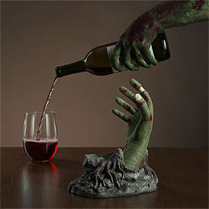 Zombie Wine Stands - This Wine Holder is Designed to Look Like a Bloody Undead Hand