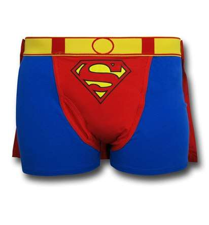 Caped Cosplaying Boxer Briefs - These Red and Blue Superman Underpants Are Nothing Short of Heroic