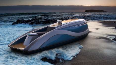 Opulent Personal Watercraft - The Strand Craft V8 Wet Rod Watercraft is Incredibly Luxurious