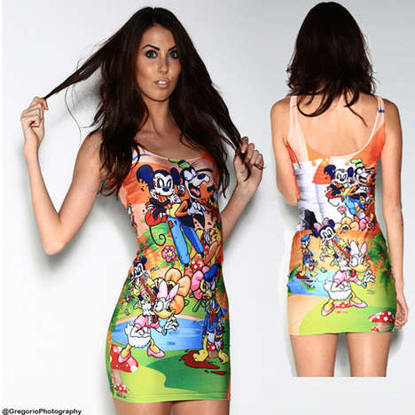 Zombified Disney Dresses - This Zombie Mickey Mouse Body Con Dress Turns Disney Sinister