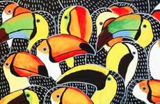 Polychromatic Parrot Paintings